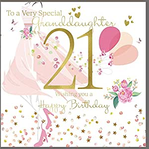 21st birthday card granddaughter - HerbysGifts.com