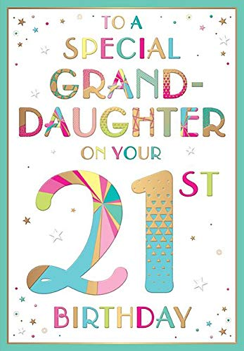 Happy 21st Birthday Card For Daughter