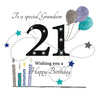 21st Birthday Card Grandson - HerbysGifts.com