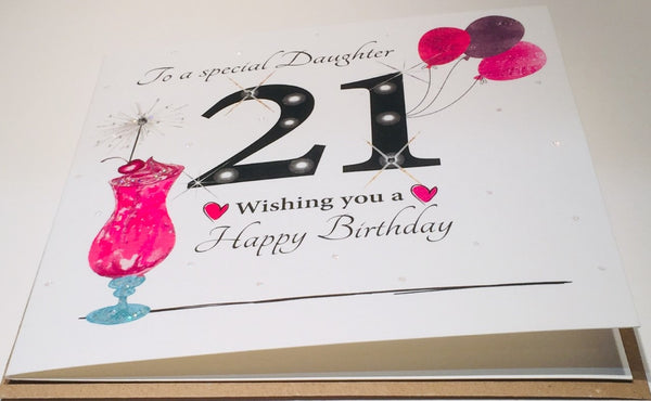 21st Birthday Card Special Daughter