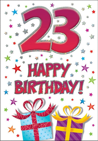 23rd Birthday Card - HerbysGifts.com