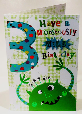 3rd Birthday Card For A Boy - HerbysGifts.com