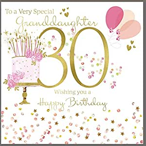 30th Birthday Card Granddaughter - HerbysGifts.com