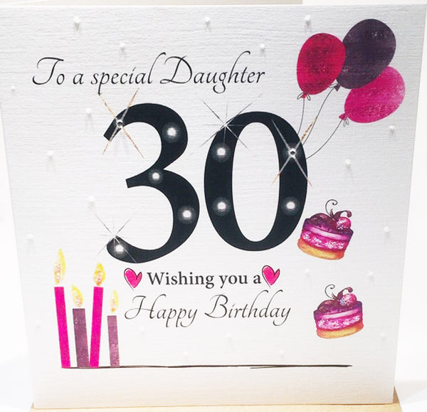 Large Happy 30th Birthday Card Daughter