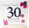 Large Happy 30th Birthday Card Daughter - HerbysGifts.com
