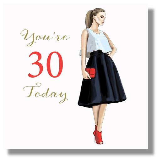 LARGE Happy 30th Birthday Card For Her