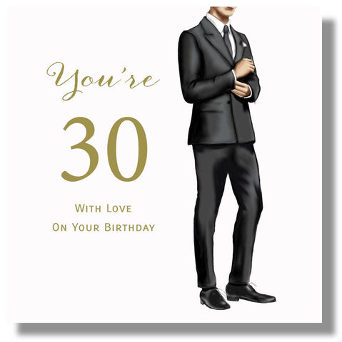 Happy 30th Birthday Card For Male  - HerbysGifts.com