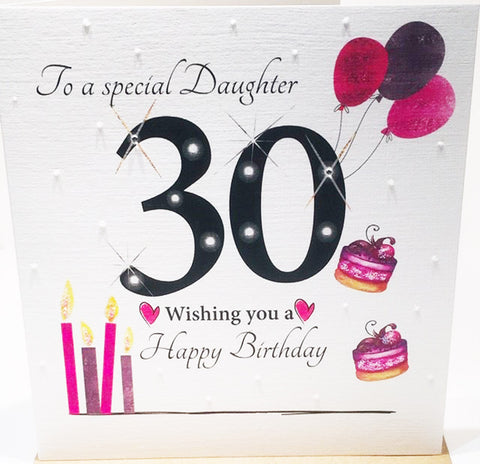 30th Birthday Card Special Daughter 30th Card Daughter Happy 30th