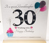 30th Birthday Card Granddaughter - 6 x 6 Inches - HerbysGifts.com