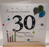 Happy 30th Birthday Card Grandson - HerbysGifts.com