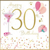 30th Birthday Card For A Woman - HerbysGifts.com