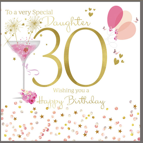 Happy 30th Birthday Card For Daughter