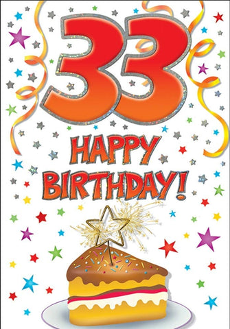 33rd Birthday Card - HerbysGifts.com