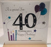 Happy 40th Birthday Card Son - HerbysGifts.com