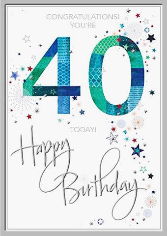 40th Birthday Card For Him