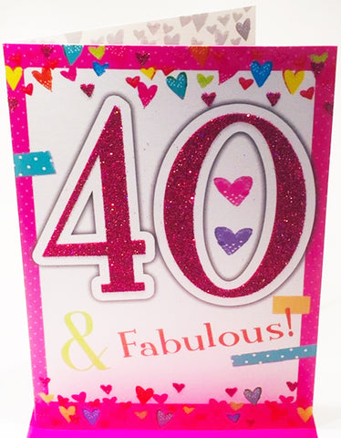 40th Birthday Card For Her - HerbysGifts.com