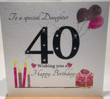 40th Birthday Card - Daughter - HerbysGifts.com
