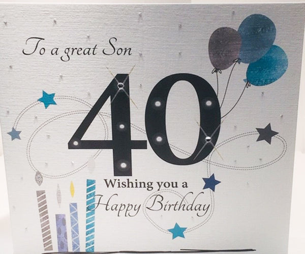 Large 40th Birthday Card Son
