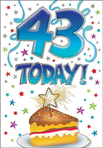 43rd Birthday Card - HerbysGifts.com