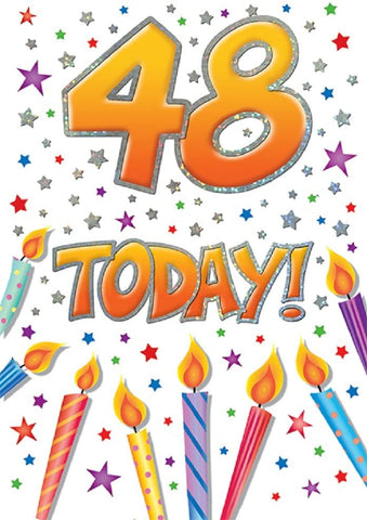 48th Birthday Card - HerbysGifts.com