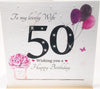 50th Birthday Card Wife - HerbysGifts.com