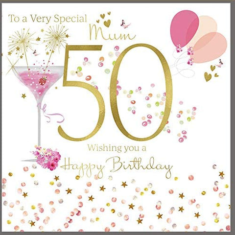 50th Birthday Card Mum - HerbysGifts.com