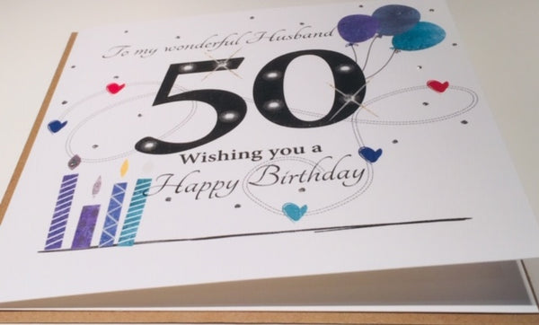 HAPPY 50th Birthday Card For Husband