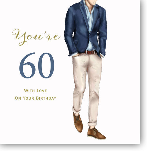 Happy 60th Birthday Card For Men