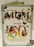 60th Birthday Card for Mum - HerbysGifts.com