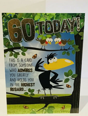 Funny 60th birthday card man - HerbysGifts.com