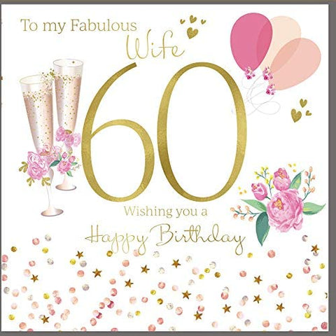 60th birthday card wife