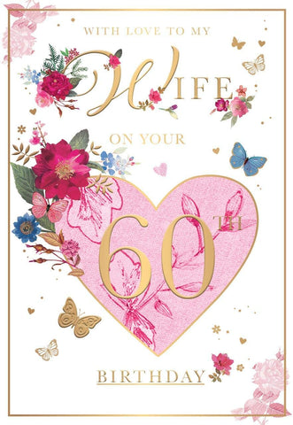 60th Birthday Card for Wife - HerbysGifts.com