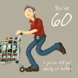 60th Birthday Card For Him - 6 x 6 Inches - HerbysGifts.com