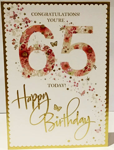 65th Birthday Card For Woman - HerbysGifts.com