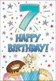 7th Birthday Card - HerbysGifts.com