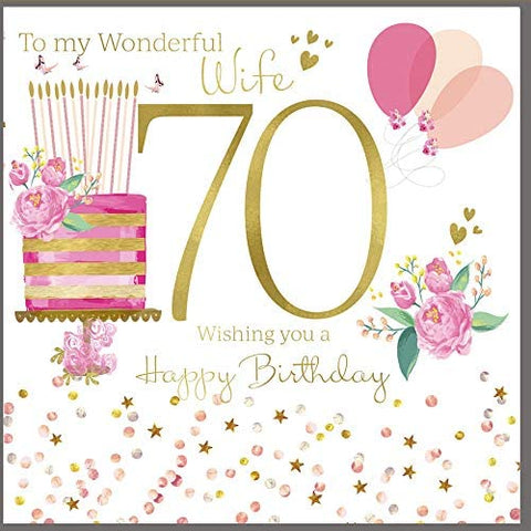 70th Birthday Card Wife - HerbysGifts.com