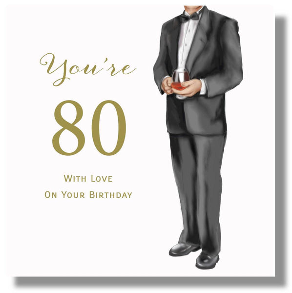 Happy 80th Birthday Card For Male
