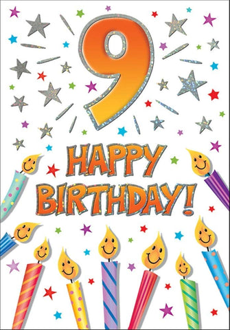 9th Birthday Card - HerbysGifts.com