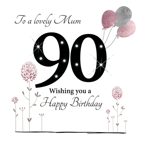 Large 90th Birthday Card Mum