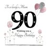 Large 90th Birthday Card Mum - HerbysGifts.com