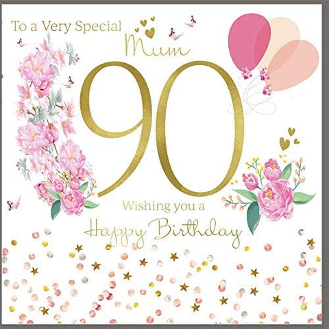 90th Birthday Card Mum - HerbysGifts.com