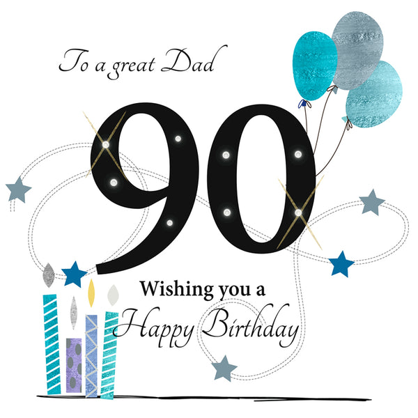 Large 90th Birthday Card Dad