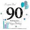Large 90th Birthday Card Dad - HerbysGifts.com