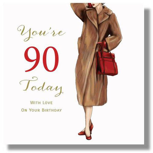 90th Birthday Card For A Woman