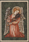 Angel with Violin Greeting Card - Blank Inside - 7 x 5 Inches - HerbysGifts.com