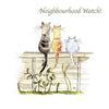 Cats on Neighbourhood Watch Birthday Card - HerbysGifts.com