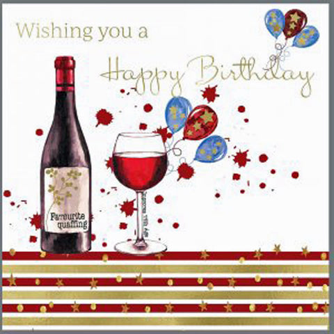 Birthday Card Red Wine
