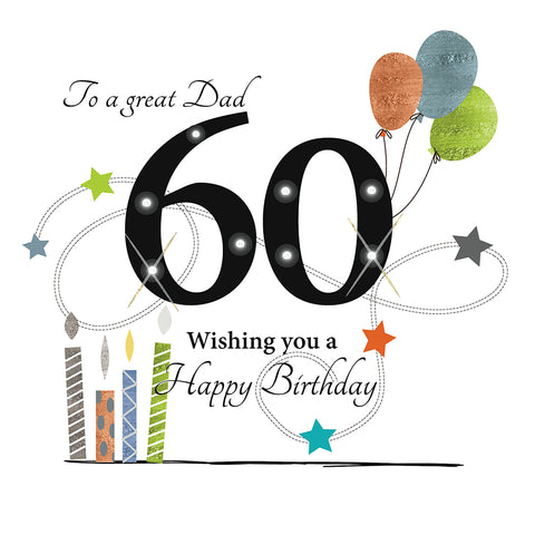 Dad 60th Birthday Card - HerbysGifts.com
