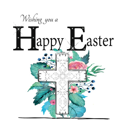 Happy Easter Card - HerbysGifts.com - 6 x 6 Inches