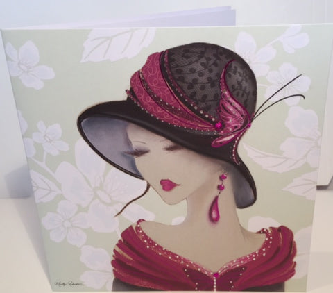Maranda-Ti Amelia Glamour Birthday Greeting Card - HerbysGifts.com